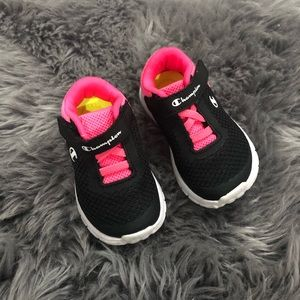 Pink an Black Infant/Toddler Champion Sneakers
